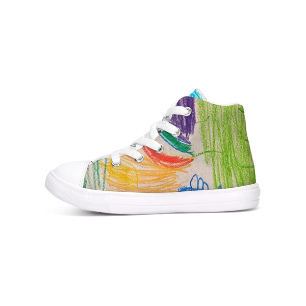 Milani Art 1 Kids Hightop Canvas Shoe