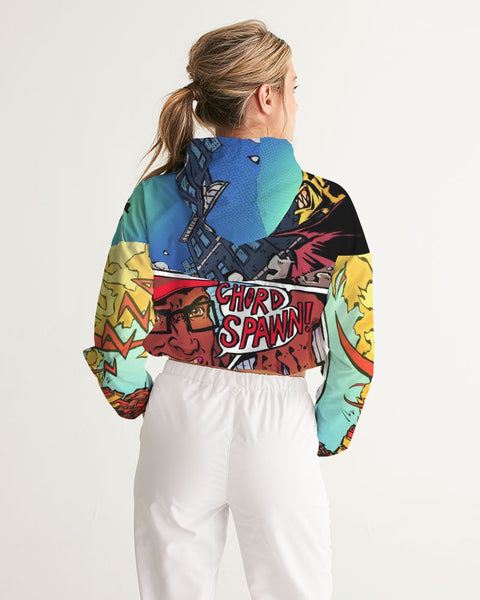 Smash Invasions Print A Women's Cropped Windbreaker