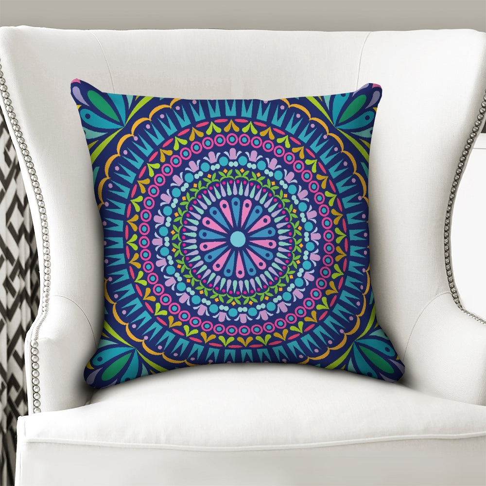 "Indian Pattern Throw Pillow Case 18""x18"""