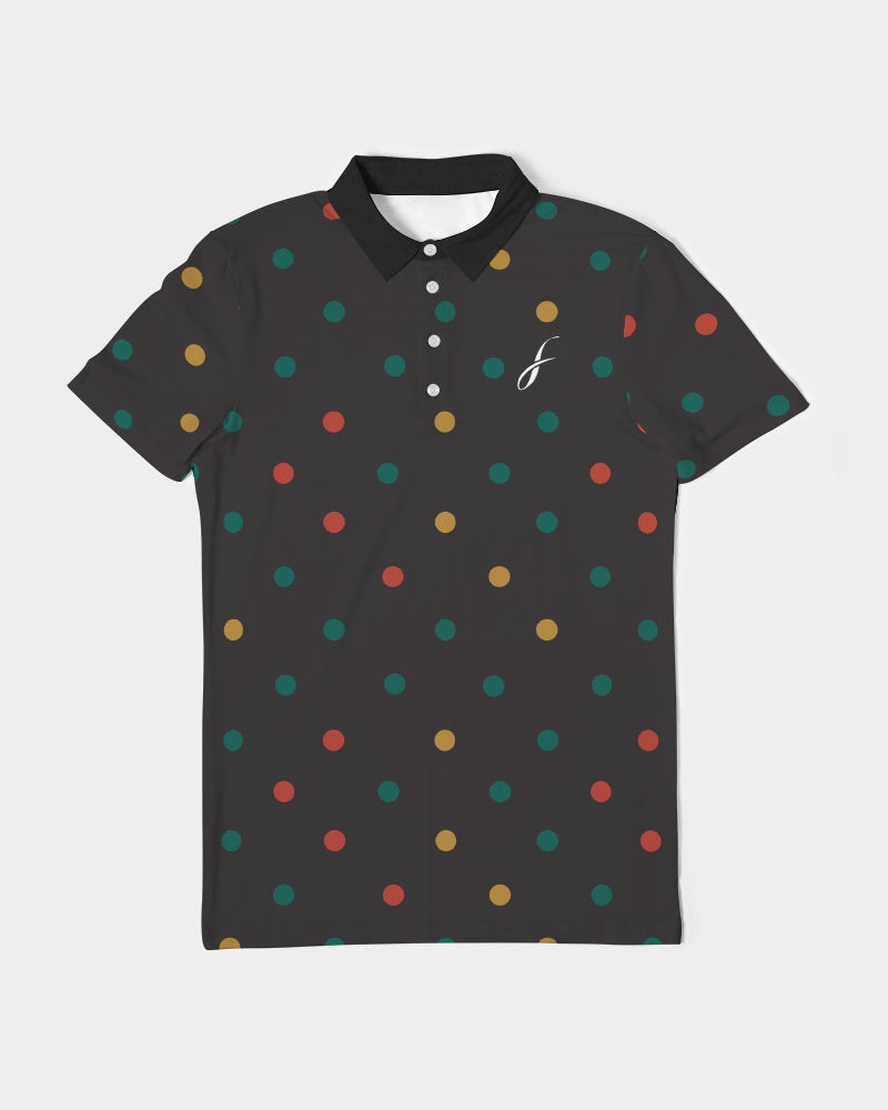 FIGARO Dots Men's Slim Fit Short Sleeve Polo