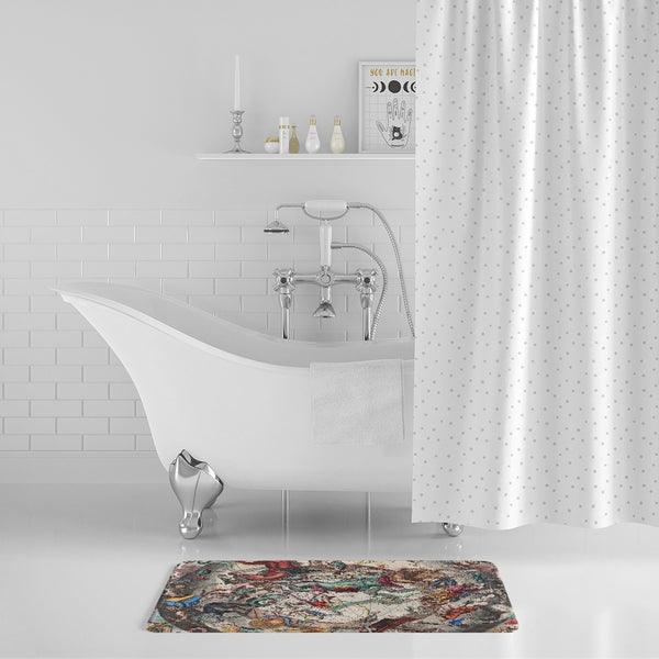 stars map dark Bath Mat