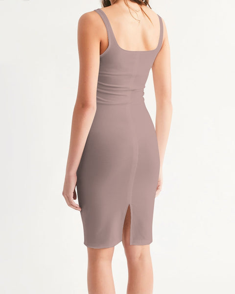 Figaro Rose Tan Women's Midi Bodycon Dress