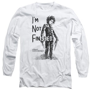 Edward Scissorhands - Not Finished Long Sleeve Adult 18/1