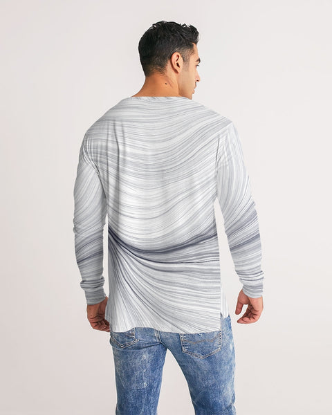 FIGARO PARTICLES Black/White Men's Long Sleeve Tee