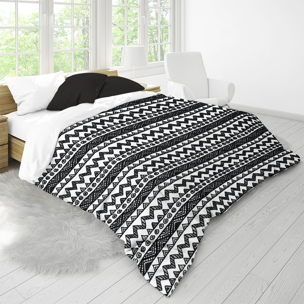 FIGARO Black/White King Duvet Cover Set