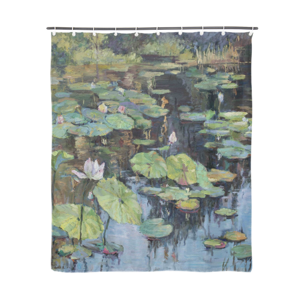 "Oil painting lily flower Shower Curtain 72""x72"""