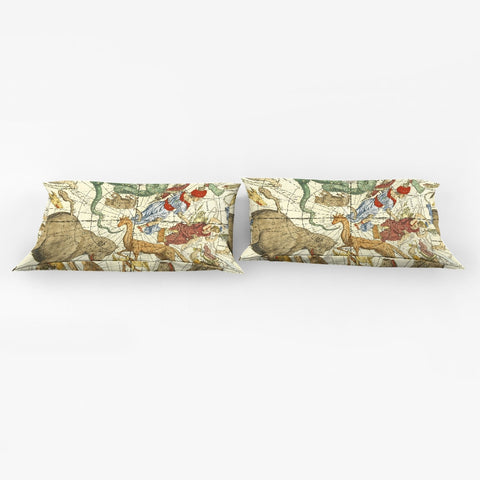 map stars King Pillow Case