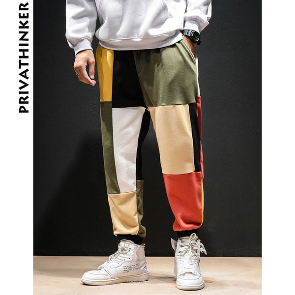 FIGARO Privathinker Patchwork Color Harem Pants