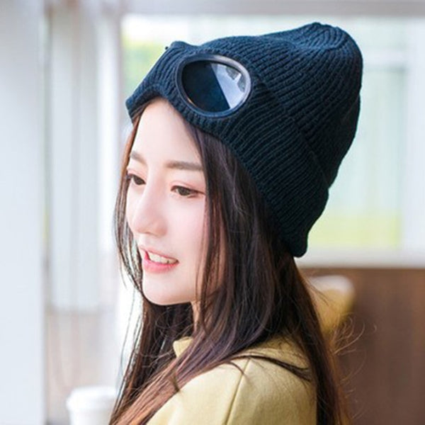 Fashion Double-use Thickened Winter Knitted Hat
