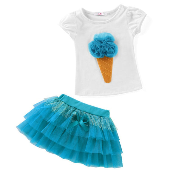 FIGARO Toddler Girls Skirt 2pc Sets