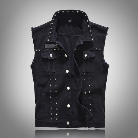 FIGARO Denim Sleeve Cut Vest