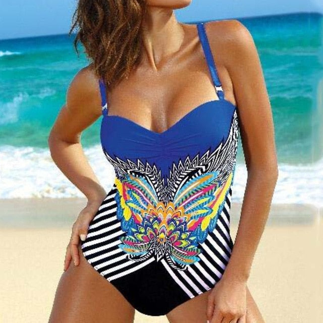 FIGARO Floral One-Piece Swimwear