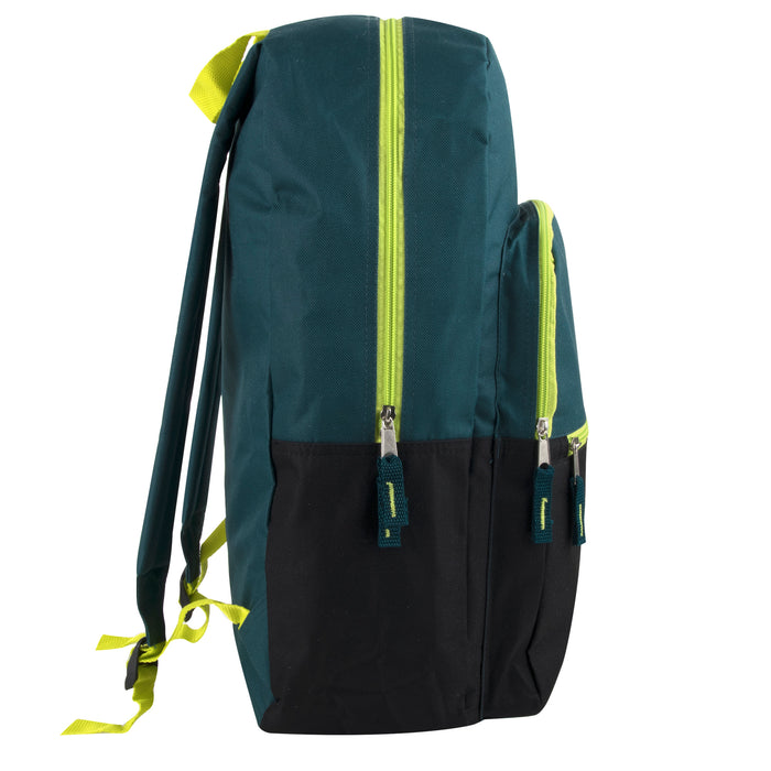 Wholesale 48cm Multi Pocket Two Tone Backpack 25L Capacity - 3 Colourways