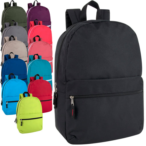 Wholesale 43cm Classic Backpack 20L Capacity - 12 Colour Assortment
