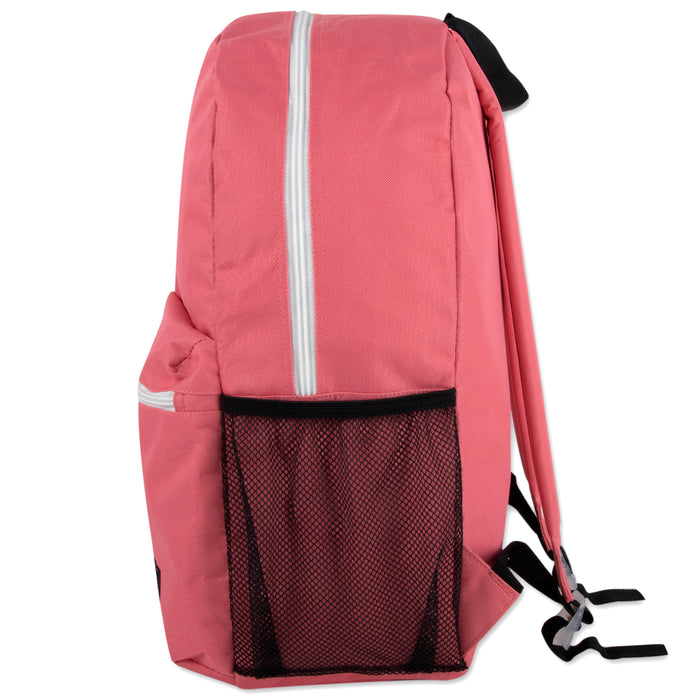 Wholesale 46cm Backpack 25L Capacity With Side Pocket - 4 Colours