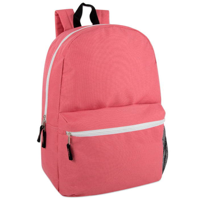 Wholesale 48cm Backpack 25L Capacity With Mesh Side Pocket - 4 Colours