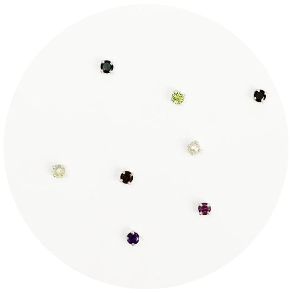 Gemstone Stud - Single Stud