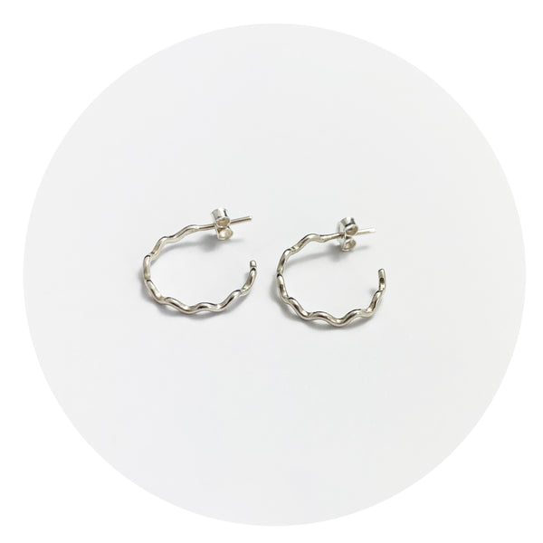 Superfine Wave Hoops - Small