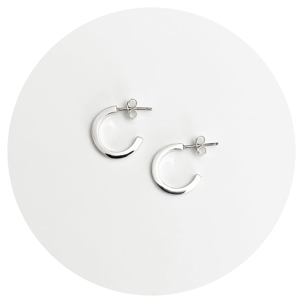 Small Hoop Studs (square)