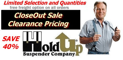 Clearance Priced Holdup Suspender Company products with marked down 40%