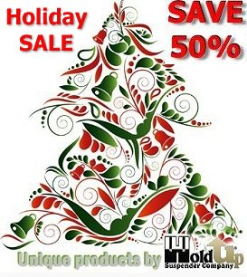 Pre-Christmas Sale on these 200+ Holdup Closeout Model Suspenders perfect for Christmas gifting.