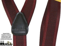Hold-Ups Cordovan Burgundy Tone-on-Tone Jacquard Weave With Y-Back