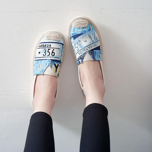 Retro License Plate Shoes