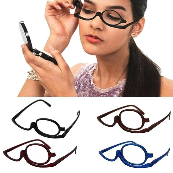 Clear Makeup Eye Glasses | No more uneven eyeliner or mascara stains when applying makeup!