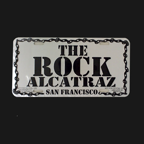 The Rock Alcatraz License Plate