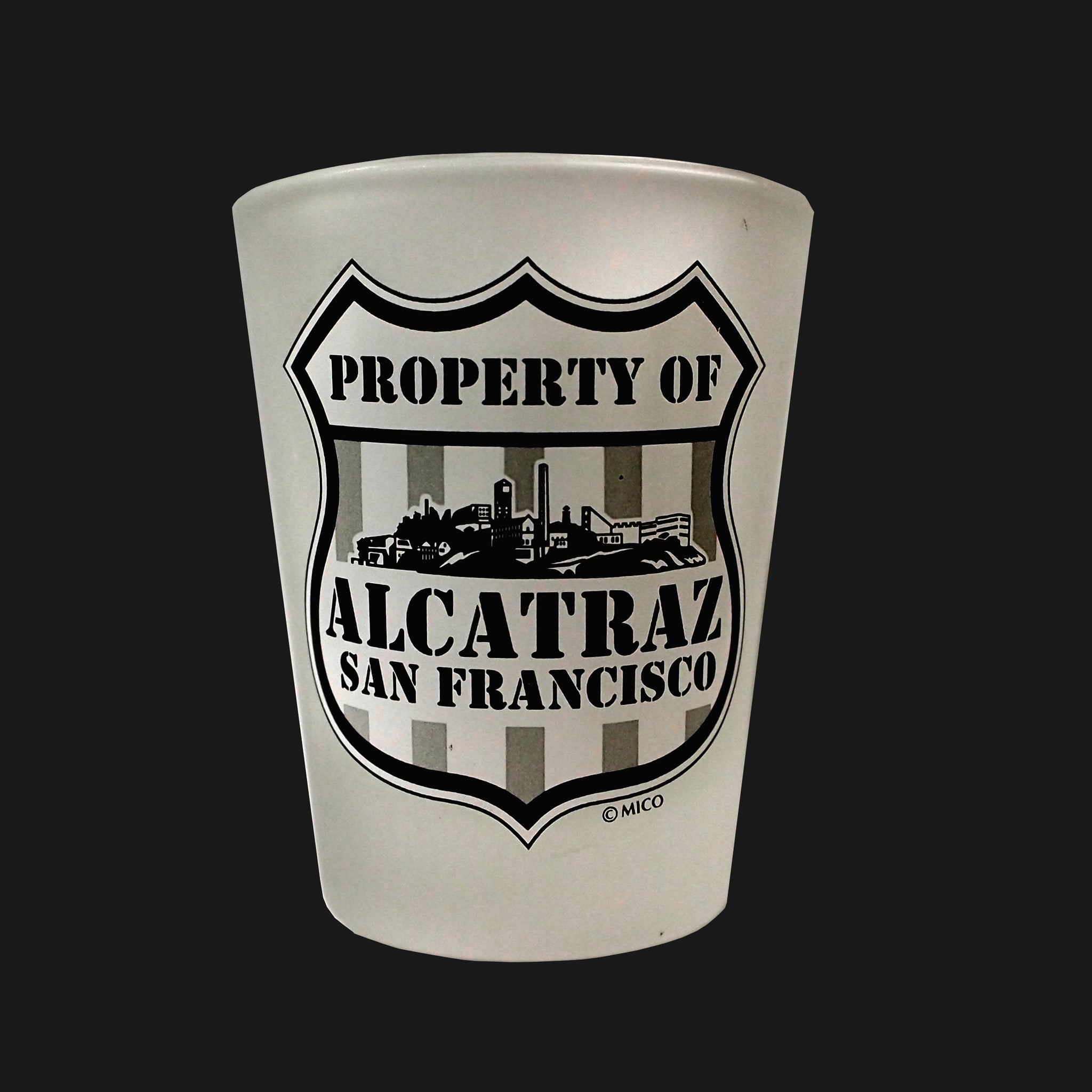 Alcatraz Shield Shotglass