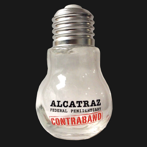 Alcatraz Contraband Lightbulb Jar