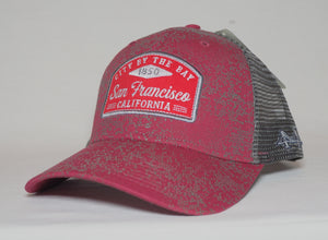"Red San Francisco ""City By The Bay"" Mesh Trucker Cap"