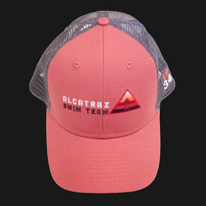 Alcatraz Swim Team Trucker Cap - Red/Gray