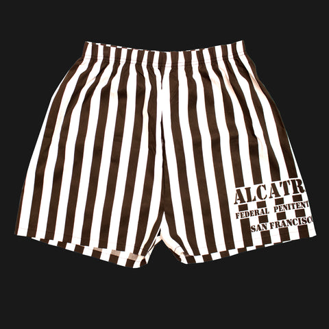 Alcatraz Black & White Shorts