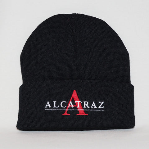 Black Alcatraz Beanie With Block Letter A