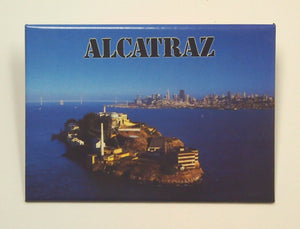 Rectangular Magnet with photo of Alcatraz Island