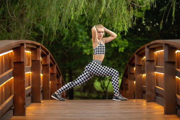 Houndstooth Fitness Set