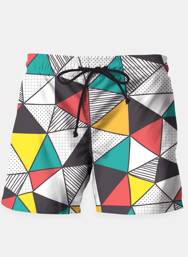 Geometric and colorful pattern Shorts