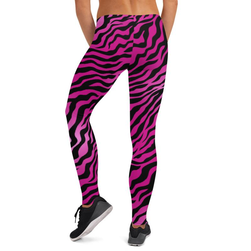 Pink Animal Print leggings, Capris and Shorts