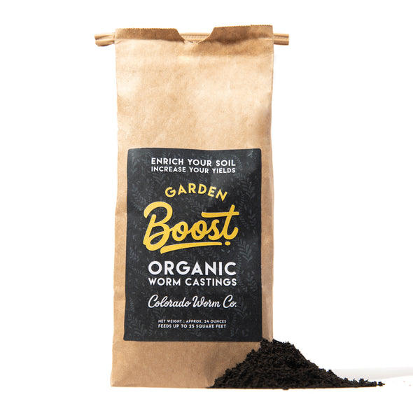 Organic Worm Castings - Garden Boost - The Colorado Worm Co. These worm castings are packed with beneficial bacteria, enzymes, and nutrient-rich compost to give your garden the boost it needs.