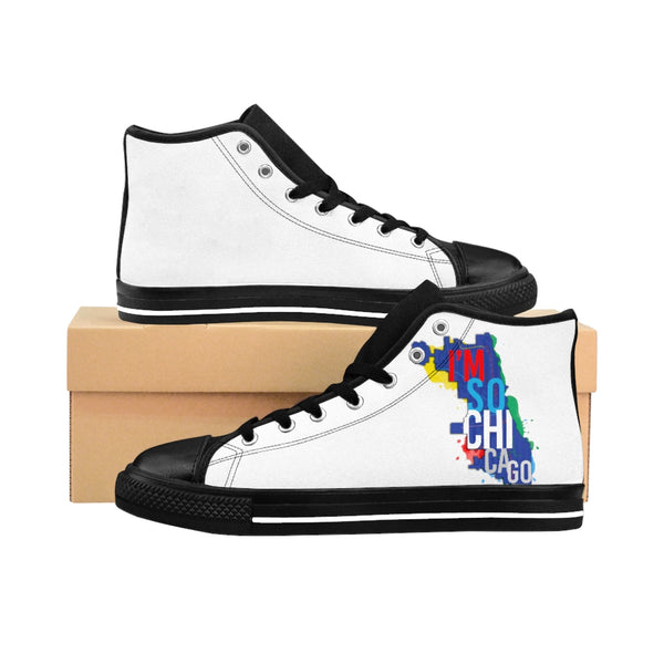 I'm So Chicago- Men's High-top Sneakers