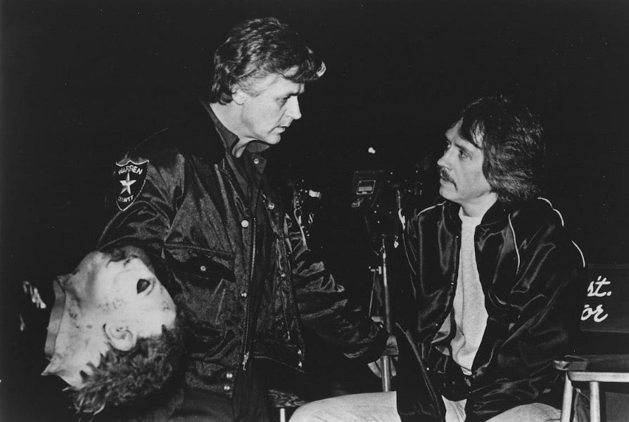 #04 - 8 x 10 - John Carpenter with Cop #3 (Dick holding the Michael Mask)