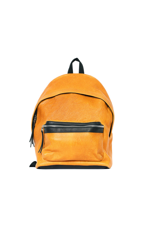 Caravaggio Lambskin Backpack Golden Yellow