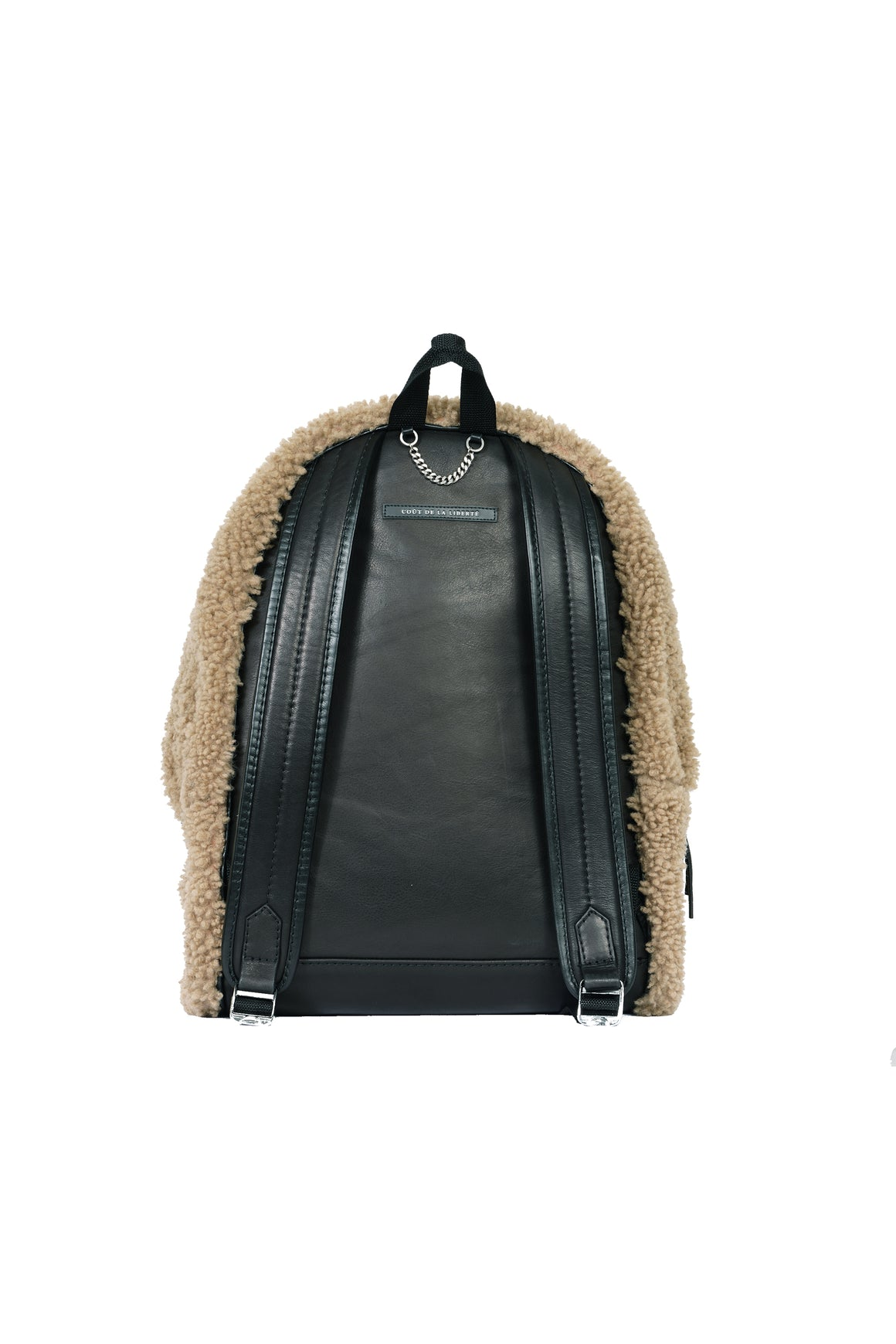 Merino Wool Shearling Backpack Natural