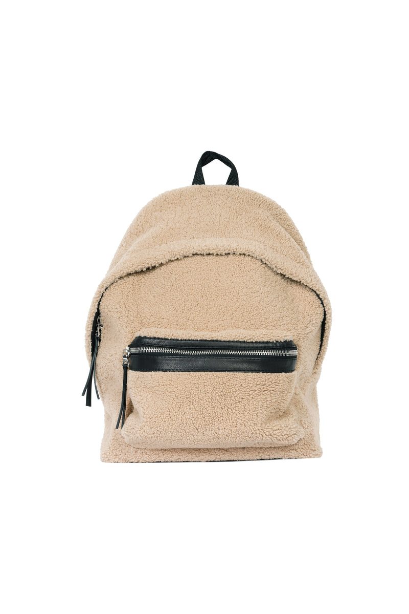 Gringo Shearling Backpack Crème