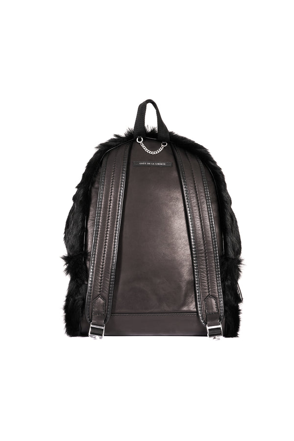 Long Hair Cow Backpack Black