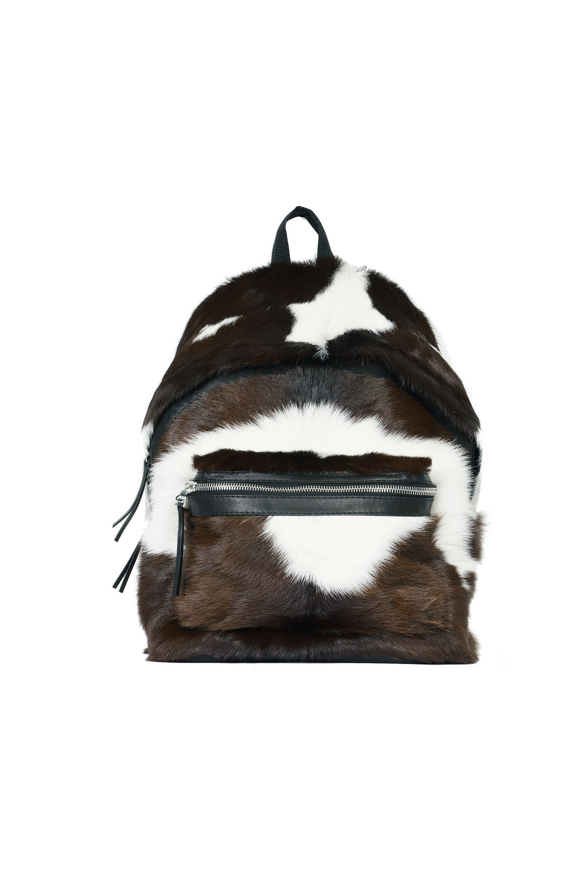 Long Hair Spotted Cow Backpack Multi Brown / White