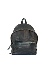 Crocodile Leather Backpack Dark Chocolate