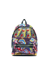 Beaded Embroidery Backpack Purple / Multi Color