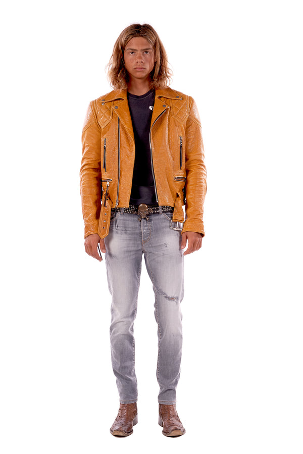 Vinny/ Caravaggio Moto Jacket Golden Yellow